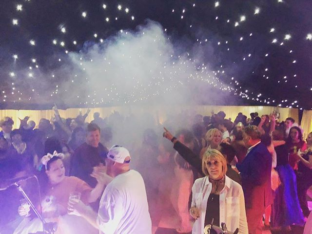 So much fun for Ellie's 18th & Nick's 50th! SO MANY AMAZING COSTUMES!!! 🙈😂🎬🎥 • The dance floor was full ALL NIGHT LONG - what a brilliant crowd! 👏🏻👏🏻👏🏻 • #movie #themovies #fancydress #smokemachine #marquee #kneppcastle #birthday #birthdayparty #18th #50th #fatherdaughter #costumeparty #movietheme #band #liveband #dancing #dancefloor