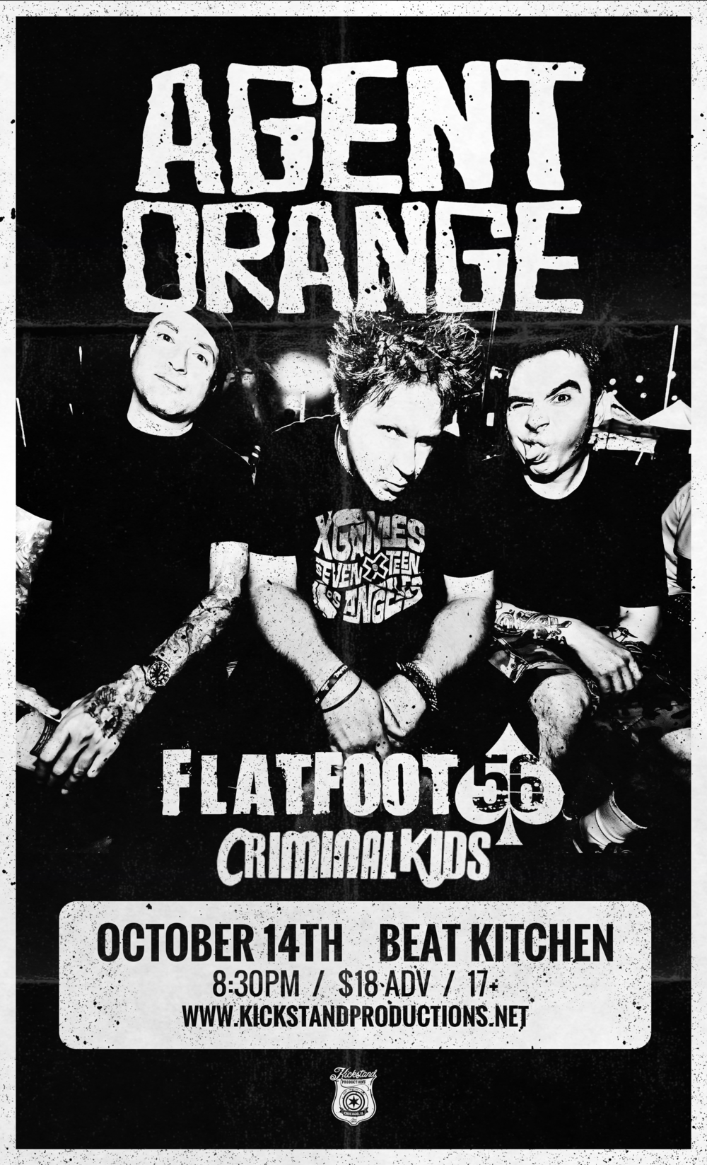 WITH AGENT ORANGE & FLATFOOT 56 - at Beat Kitchen, Oct 14th 2017