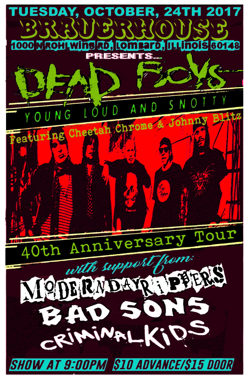 WITH DEAD BOYS AND BAD SONS - at Brauerhouse Lombard Oct 24th 2017