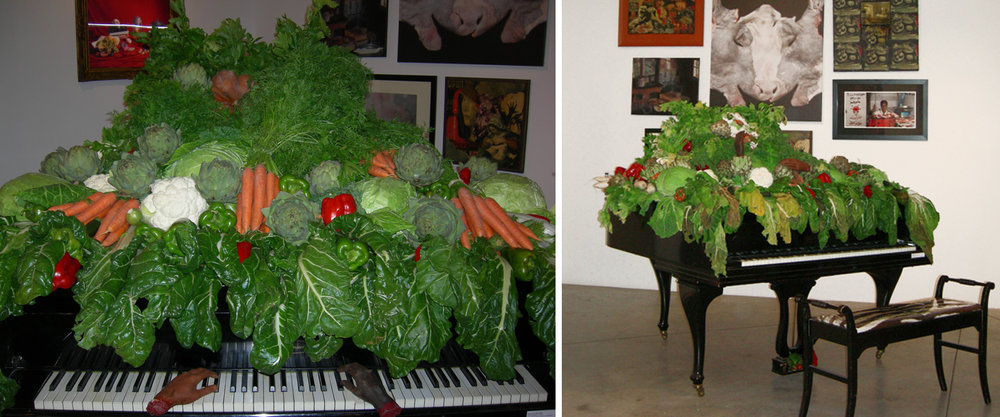 - Decomposition for pianovegetables, baby grand piano, artificial hands2007