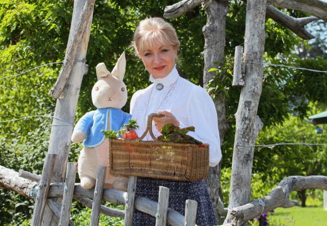 Michelle and Peter Rabbit (still with hsi little blue jacket…)