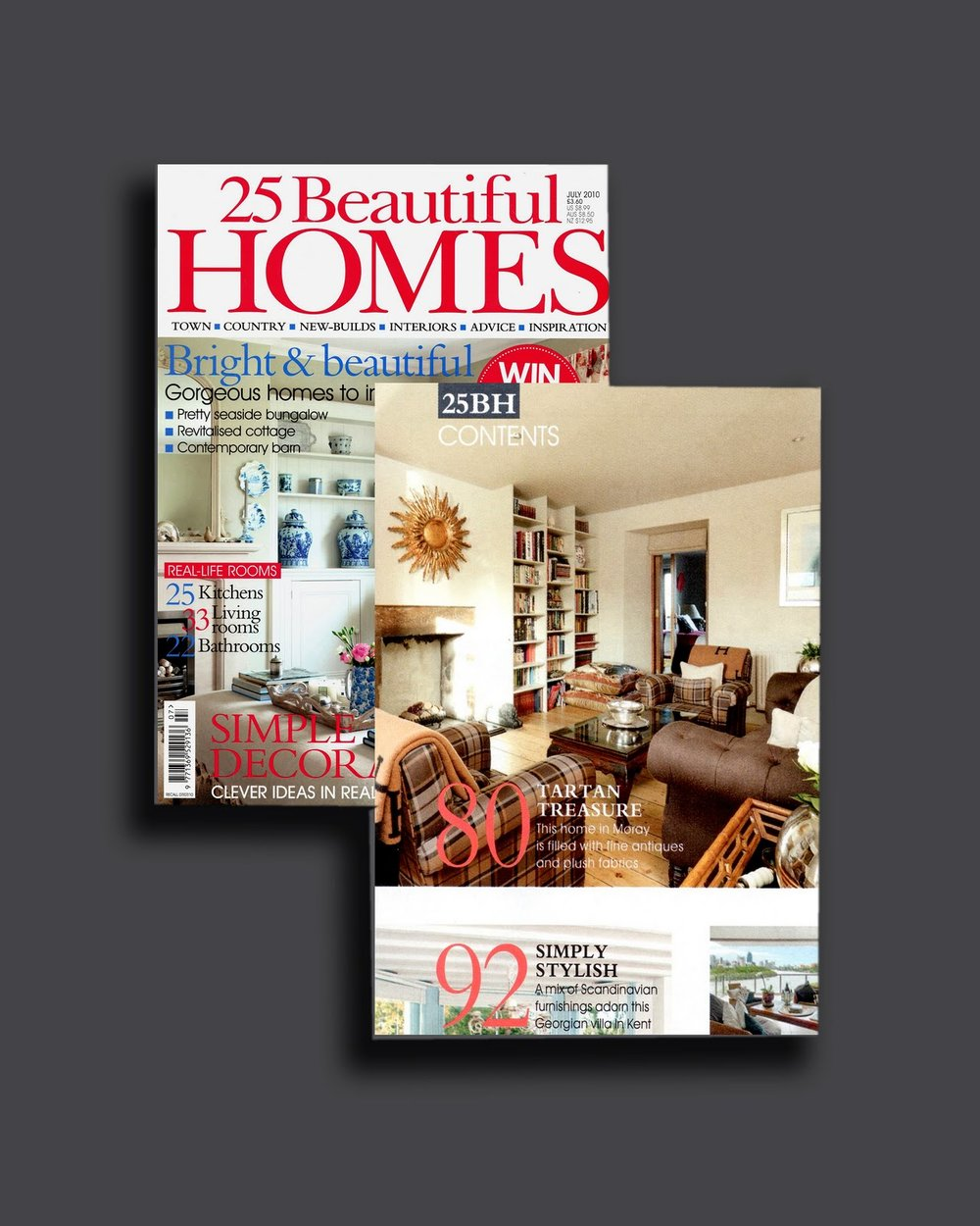 25 Beautiful Homes Cover & Contents July 2010 25 Beautiful Homes Cover & Contents July 2010