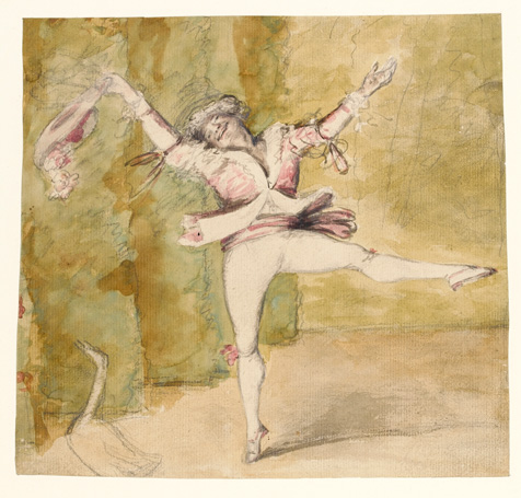 Caricature of Auguste Vestris, Nathaniel Dance-Holland