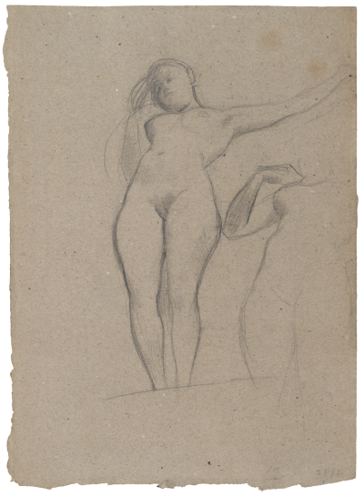 Gustav Klimt, Two Studies of a Standing Nude (Study for the Oil Sketch for Medicine). 1897-98