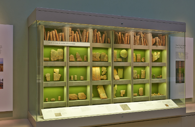 Some of the tablets from the library of Ashurbanipal at the museum.