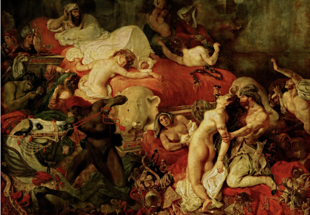 Eugène Delacroix (1798–1863),  Death of Sardanapalus . Oil on canvas, 1827.