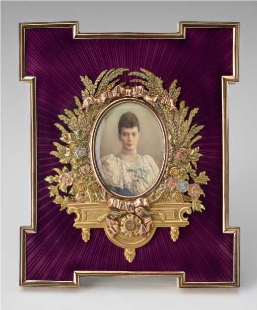 Frame with a portrait miniature of Maria Feodorovna.jpg