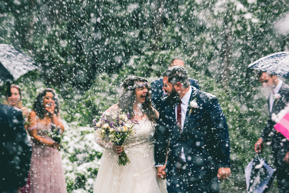 On 5.7.17 I married the greatest man I'll ever meet. AND IT SNOWED.