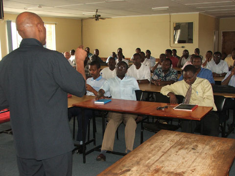 Robert Wallace Teaching Entrepreneurship in Baraton, Kenya.