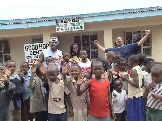 Good Hope Orphanage Centre, Arusha Tanzania with Aaron Samuels and Taylor Wallace.