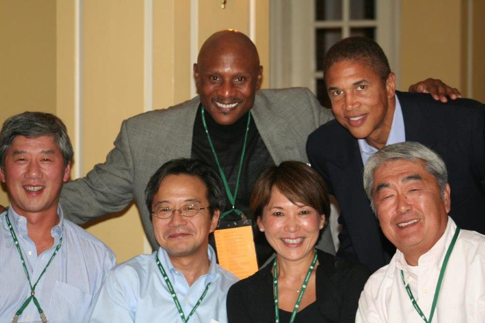 Celebrating a Tuck School of Business T'84 Reunion   with Chris Williams, Wilbert Kim, Hyozo Wantanbe and friends .