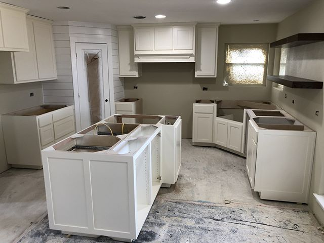 Do ya'll remember this project?? It is time for #transformationtuesday !!! More pics to come for the big #reveal on this #kitchen! Definitely kitchen #goals. Stay tuned for the big finish!  #customculture #customcontractor #happyclients #design