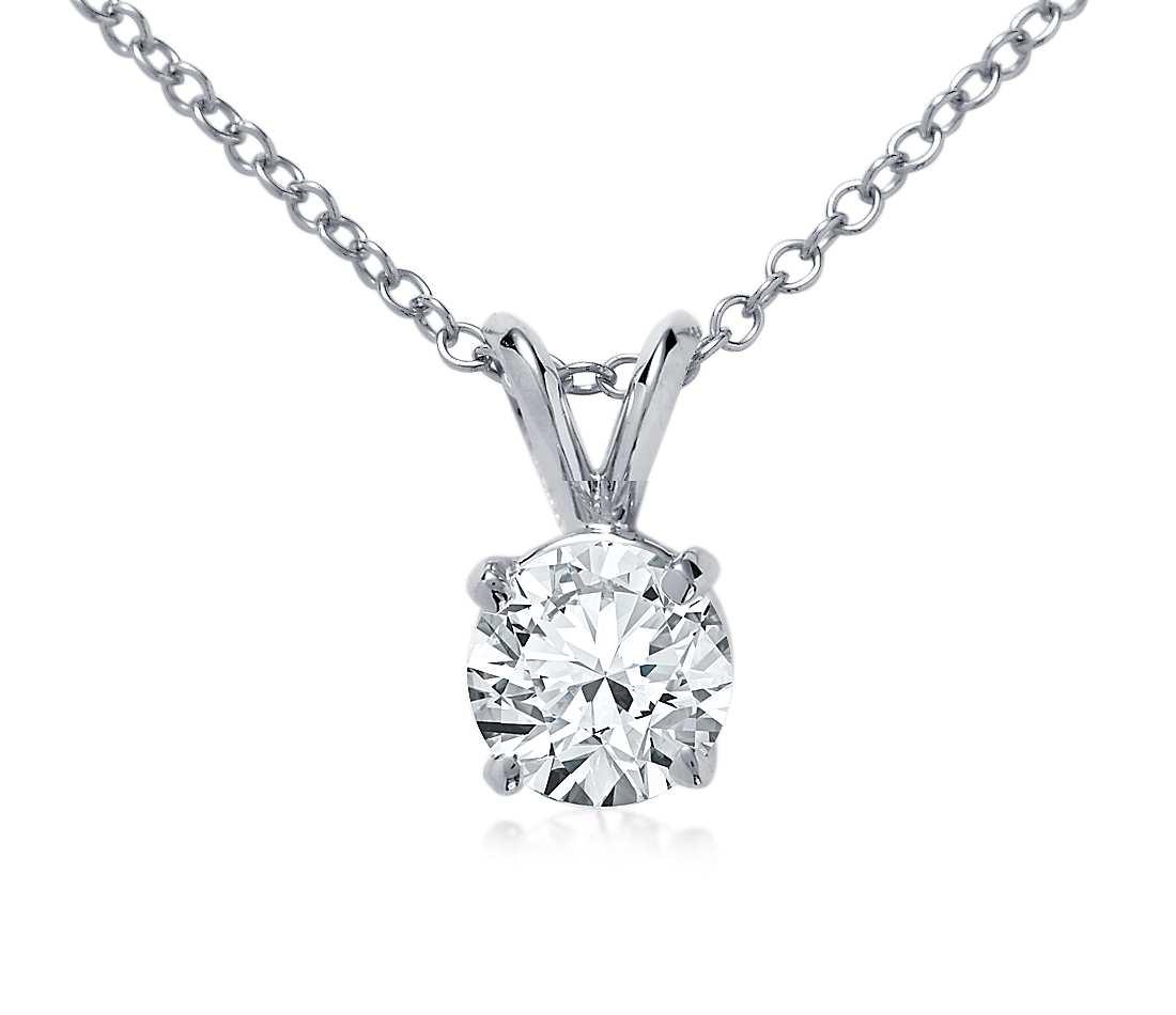 Round diamond pendant kleins jewelry round diamond pendant mozeypictures Images