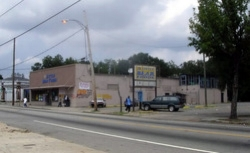 The corner before Community Grounds and Carver Market!