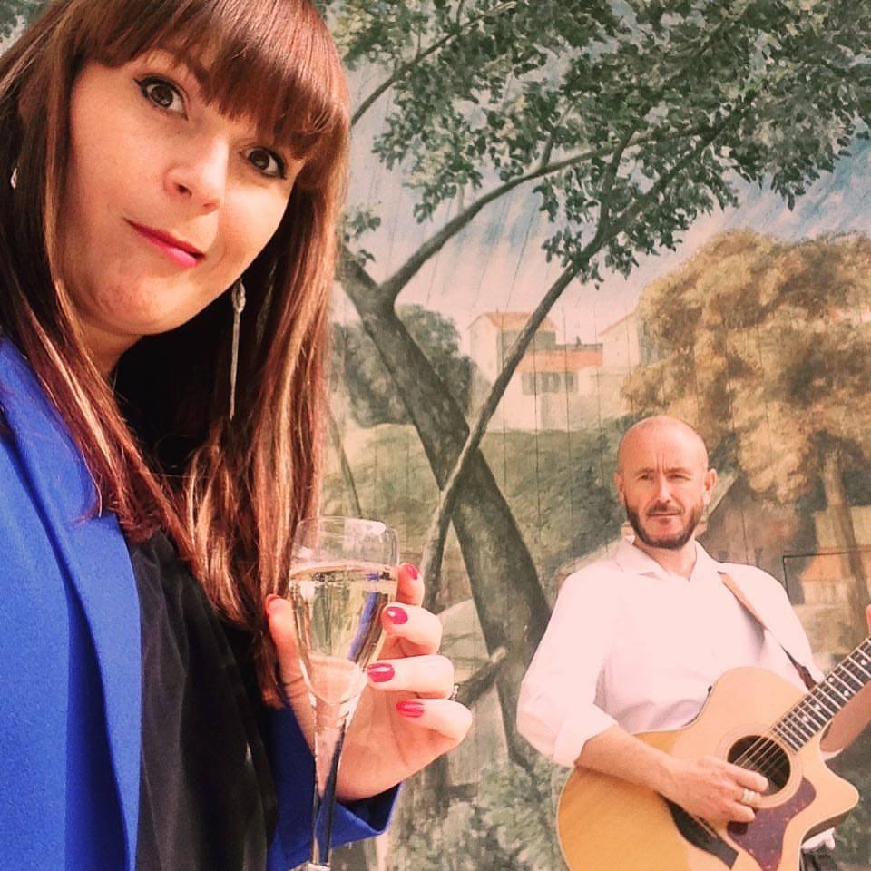 acoustic duo wedding music larmer tree