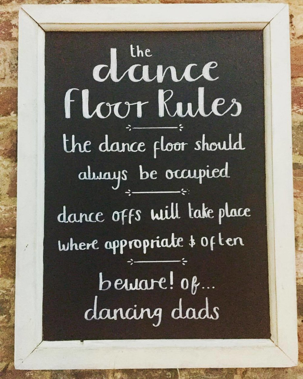 Three Tuns Dance floor rules