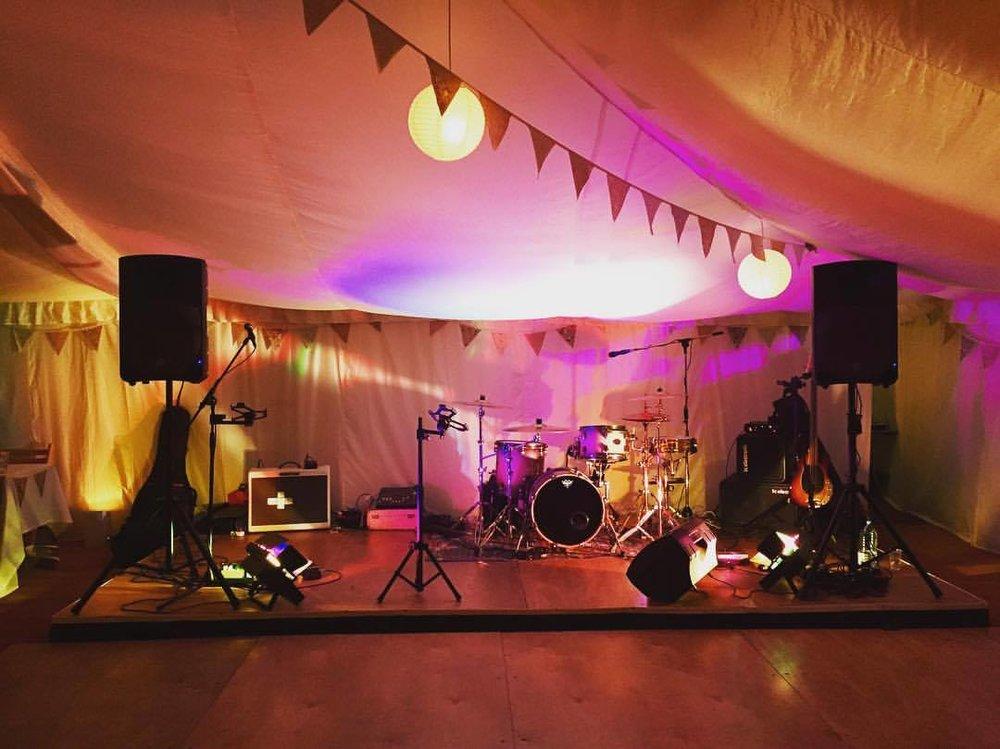 wedding band set up dorset
