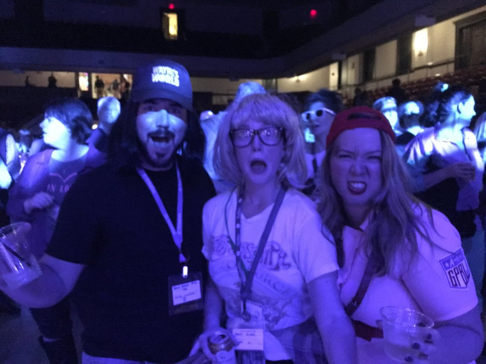 Wayne and Garth at Monster Bash