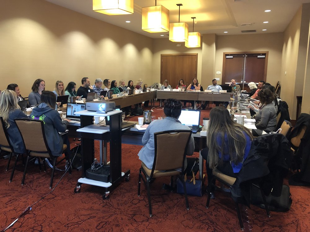 EGRASP attending CASP Affiliate Leadership Day at the Sacramento Residence Inn,  Spring 2018.