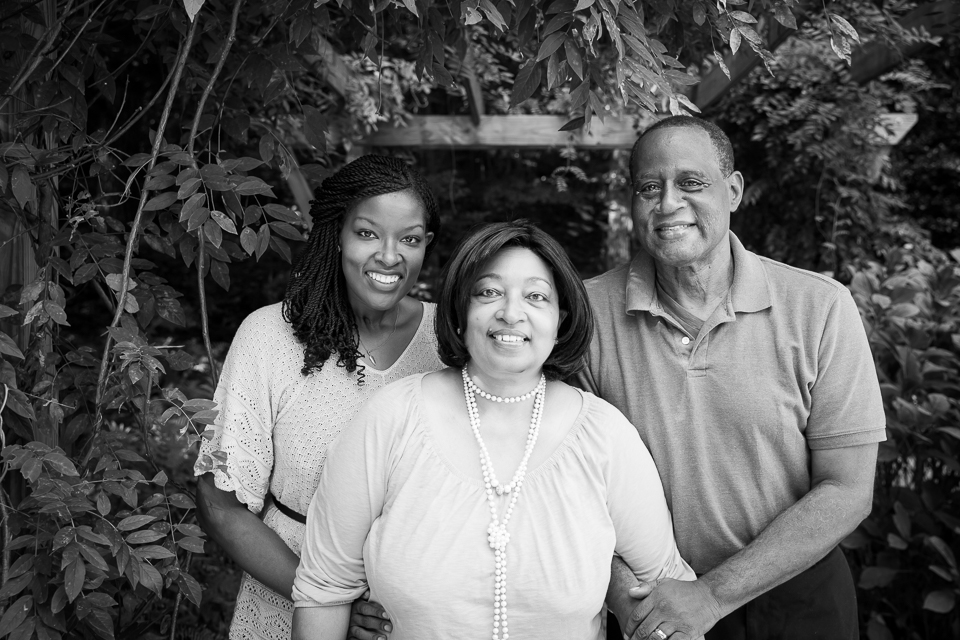 Left to Right: Aisha, her mom, and her dad. Credit: Love Not Lost