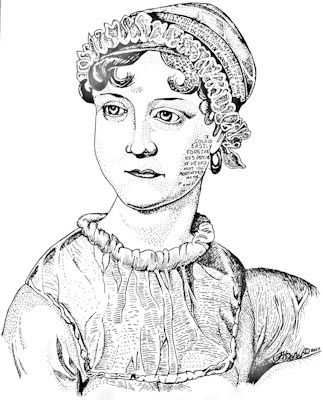 Jane Austen illustration
