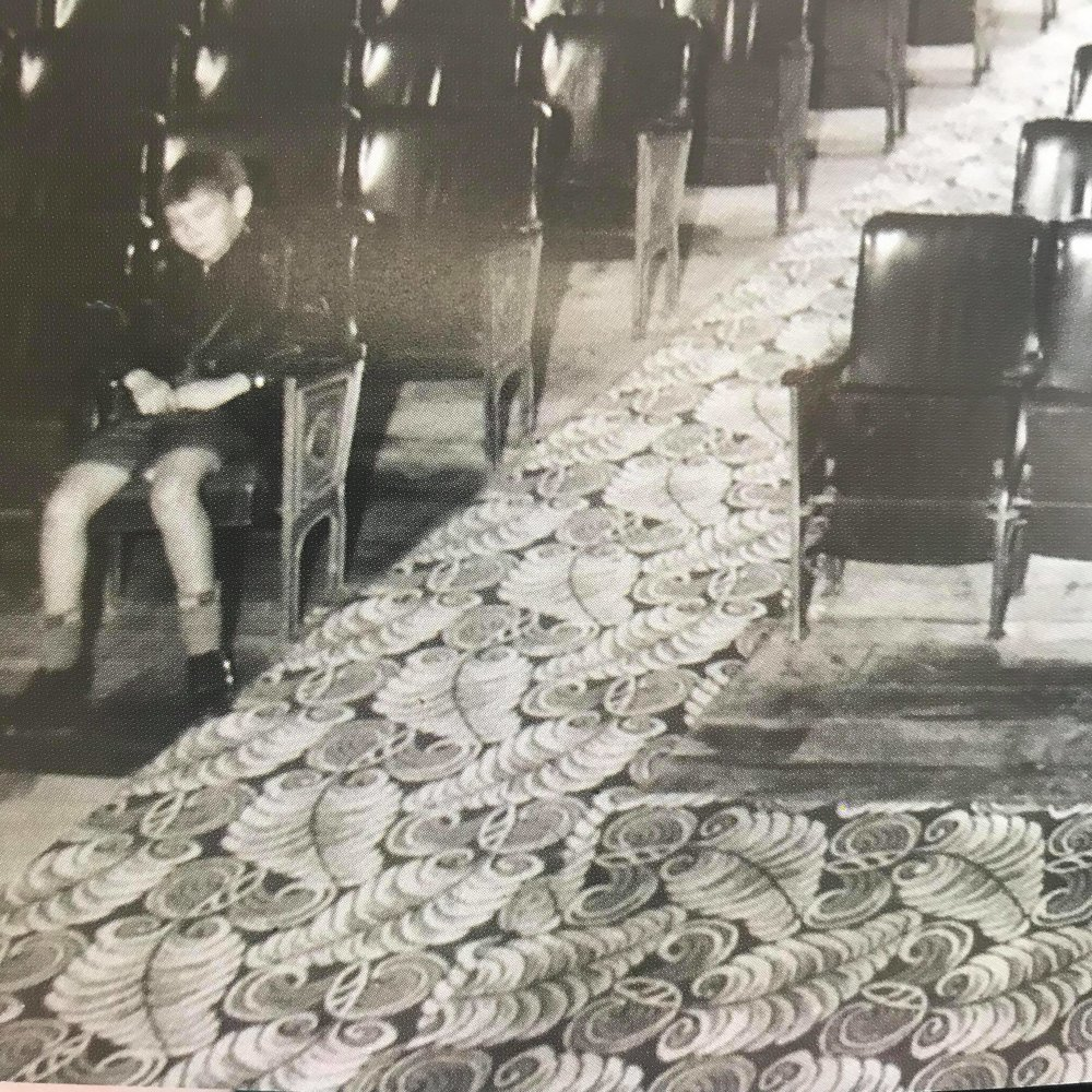 Image credit: not the Ambassador, source pending. The same carpet featured on the Ambassador staircase as is pictured here.