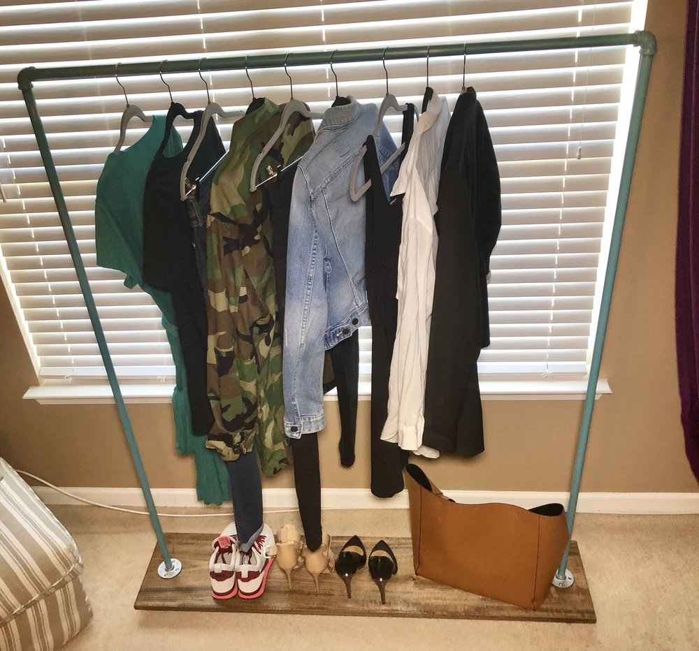 realivin net simple decor practical rack casual clothing for racks and