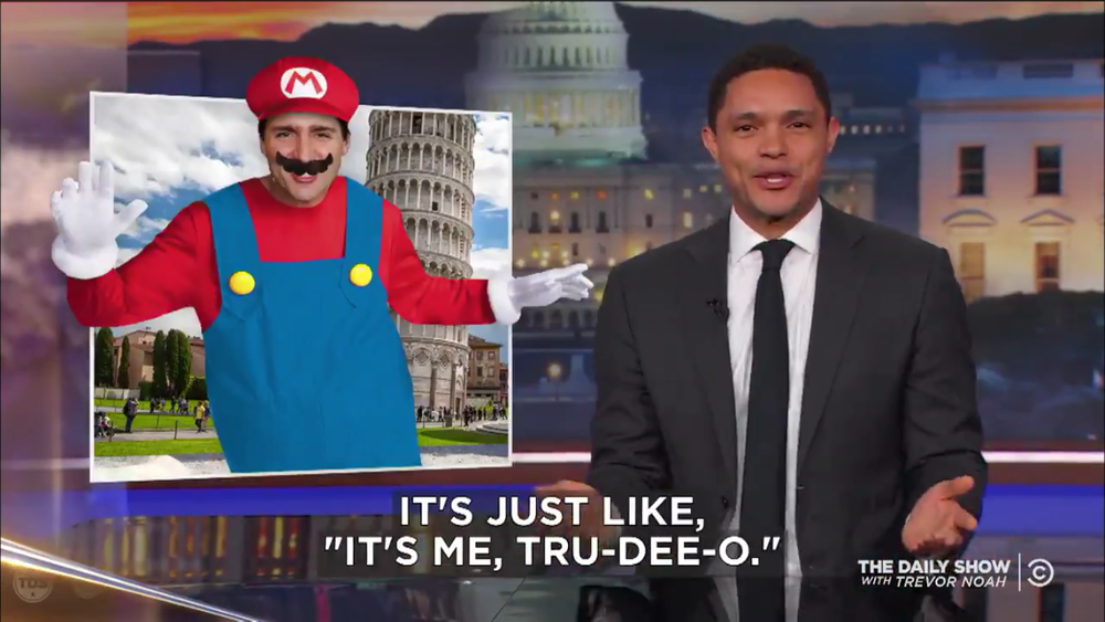 Even the Daily Show's Trevor Noah had a go at Trudeau, predicting his dress for a state visit to Italy