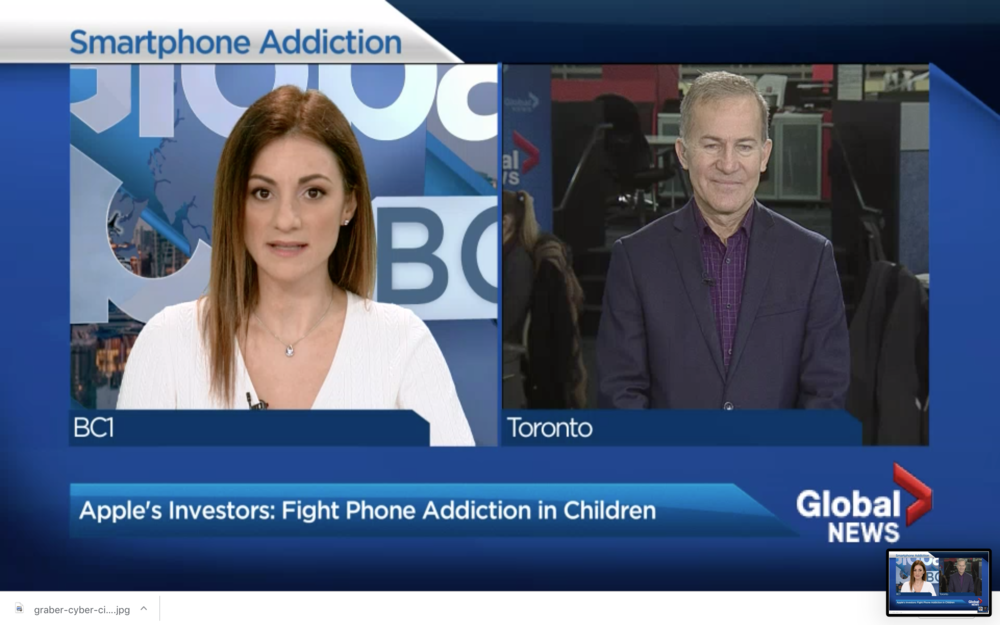 BC1    January 22 2018:  Global affairs expert Michael Bociurkiw says Apple needs to stop kids from getting hooked on phones. View     here