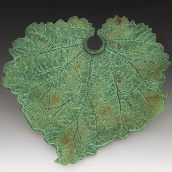 Ceramic Rhubarb Leaf