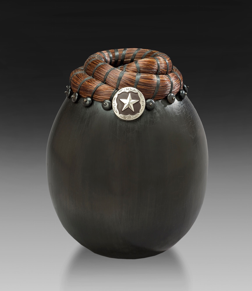 Horse Hair Vessel with Saddle Concho
