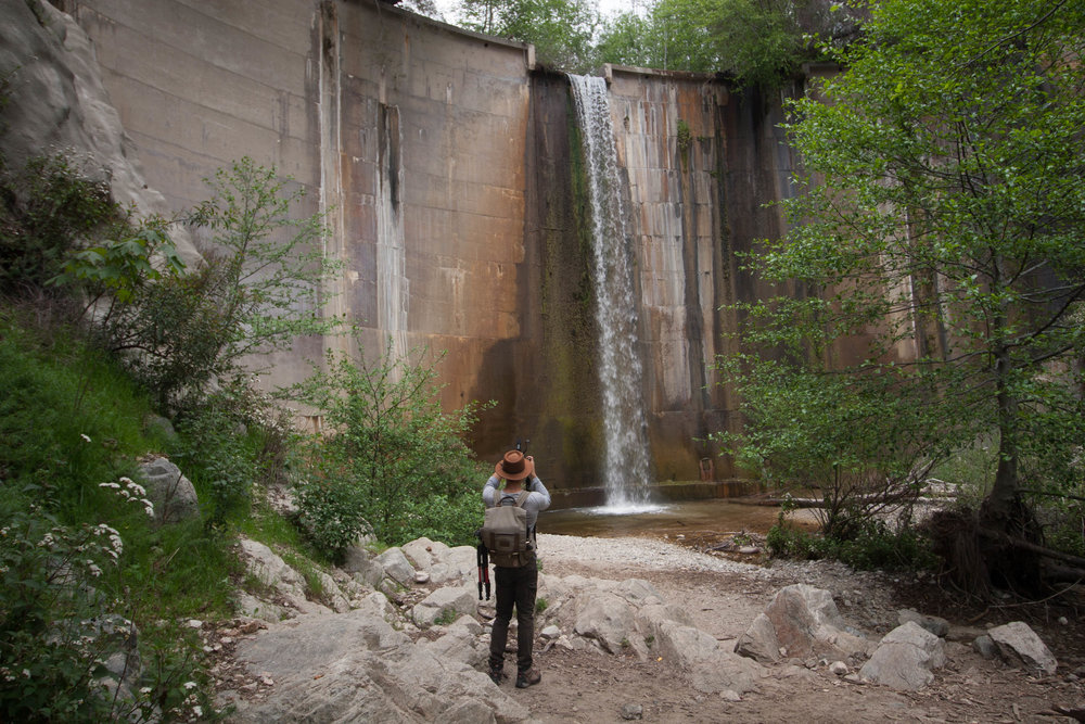 Brown Mountain Dam - Pasadena Waterfall