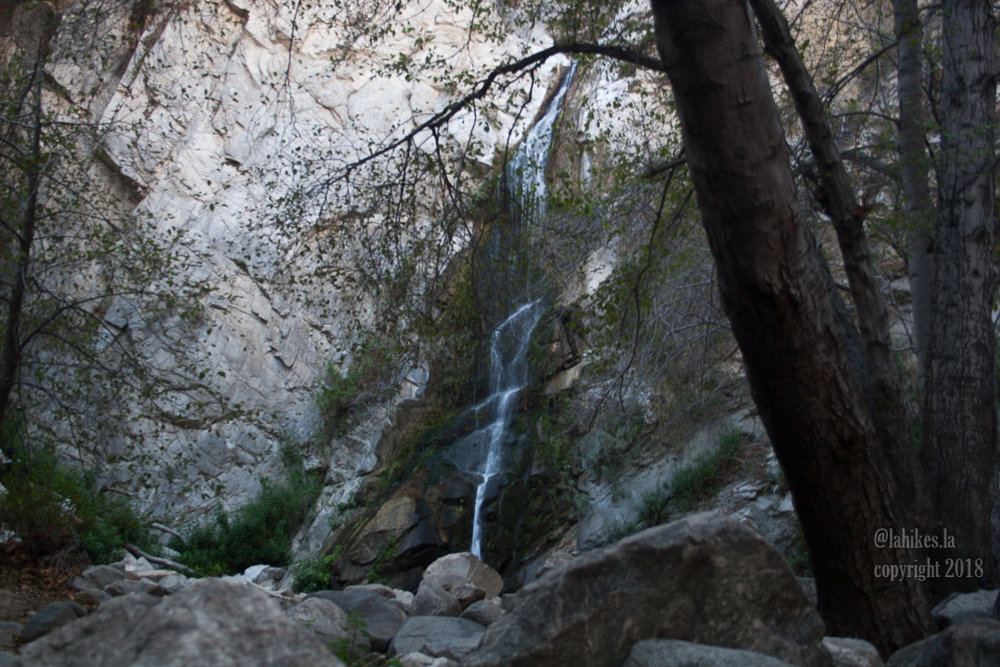 Hiking Sturtevant Falls -    50-foot falls in the Angeles National Forest