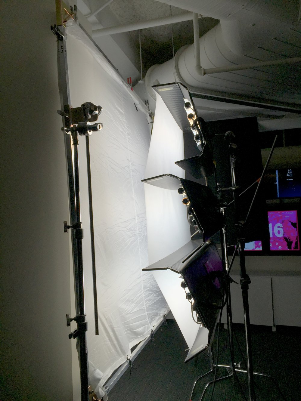 Key Light - Three 4ft 4banks with 1/2 Diffusion and then through 1/2 Grid Cloth on a 6x6ft frame