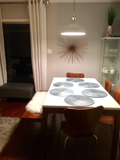 Mid century modern dining room sunburst rose gold.jpg