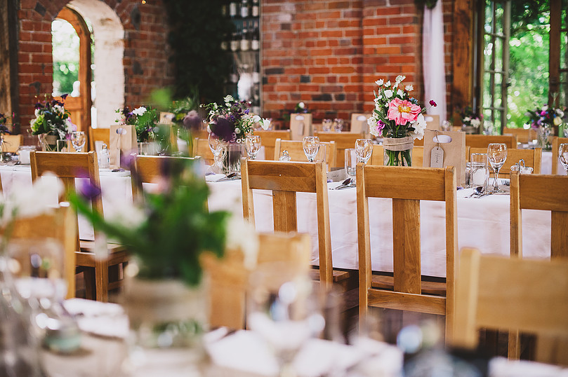purple setting full table layout