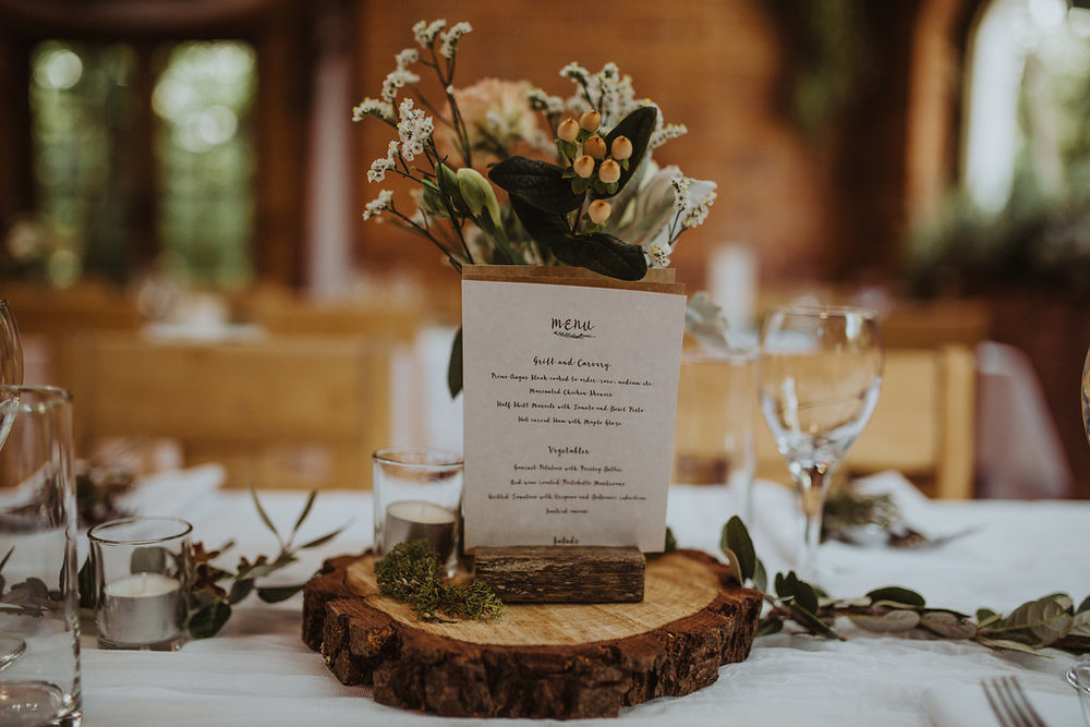 wood theme centrepiece