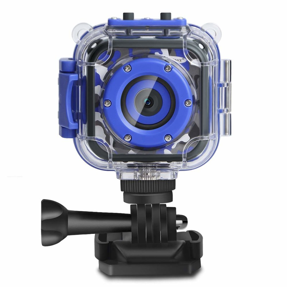 DROGRACE Children Kids Camera Waterproof Digital Video HD Action Camera
