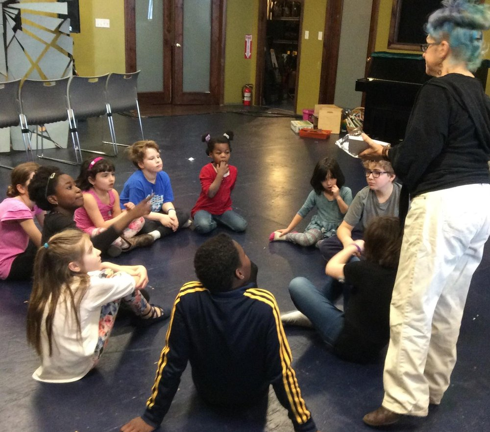 Arts Camp on CPS Days Off - a creative, relaxed but structured day of theatre, visual art and all around fun!
