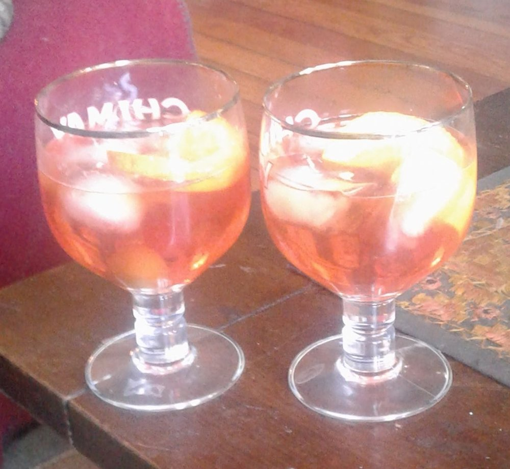 Italian Spritz, fav drink of Mitch and now, Dawn Marie