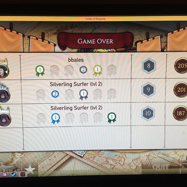 We're better than we thought at CoB?! Onwarrrrd!! #castlesofburgundy  @ravensburgerglobal  @digidiced  #stefanfeld  #boardgames