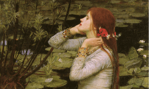 Ophelia awakening to her True Self - Waterhouse 1894