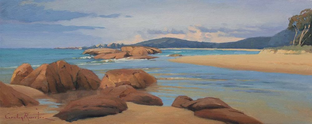 Front Creek AFTERNOON, South West Rocks by Gordon Rossiter