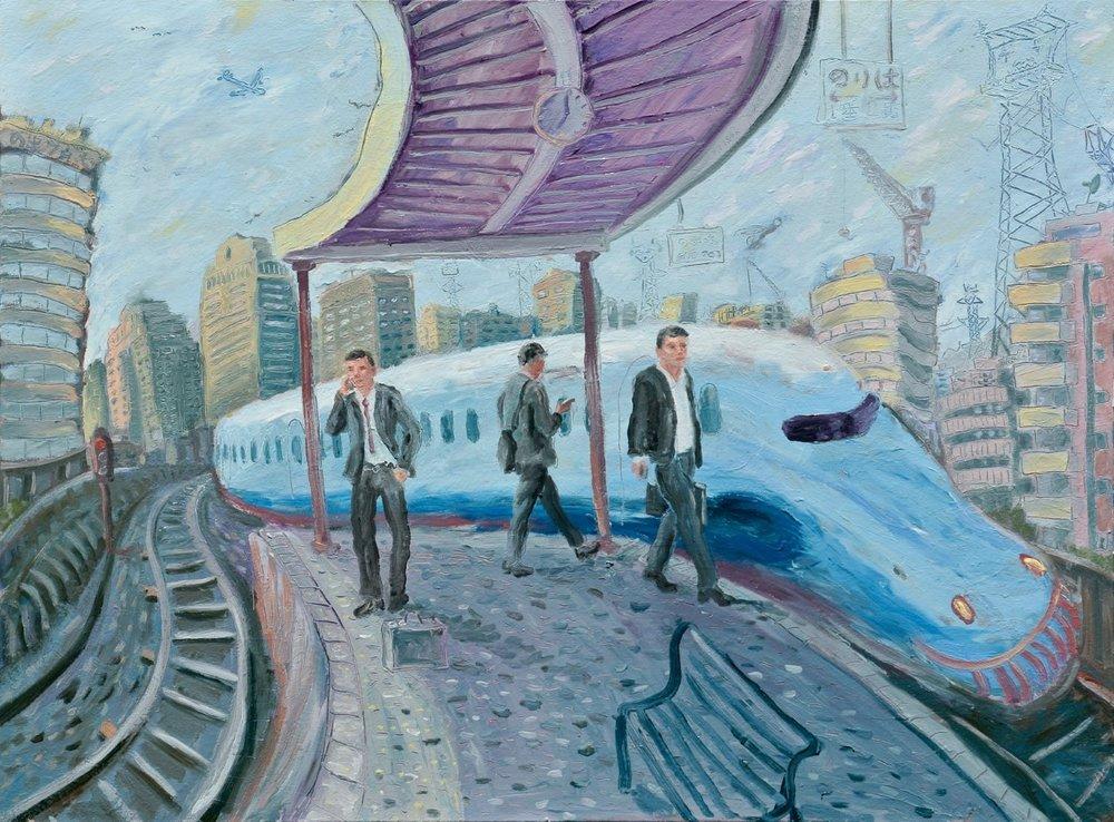 The Arrival of the Shinkansen by Simon Mark