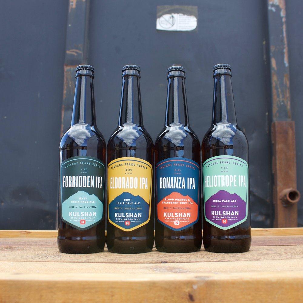 Kulshan Brewing Cascade Peaks IPA Series