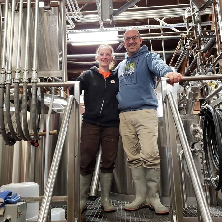 Kulshan Brewing's Lead Brewer Jenn Tadder home-brewer Jason Mantello