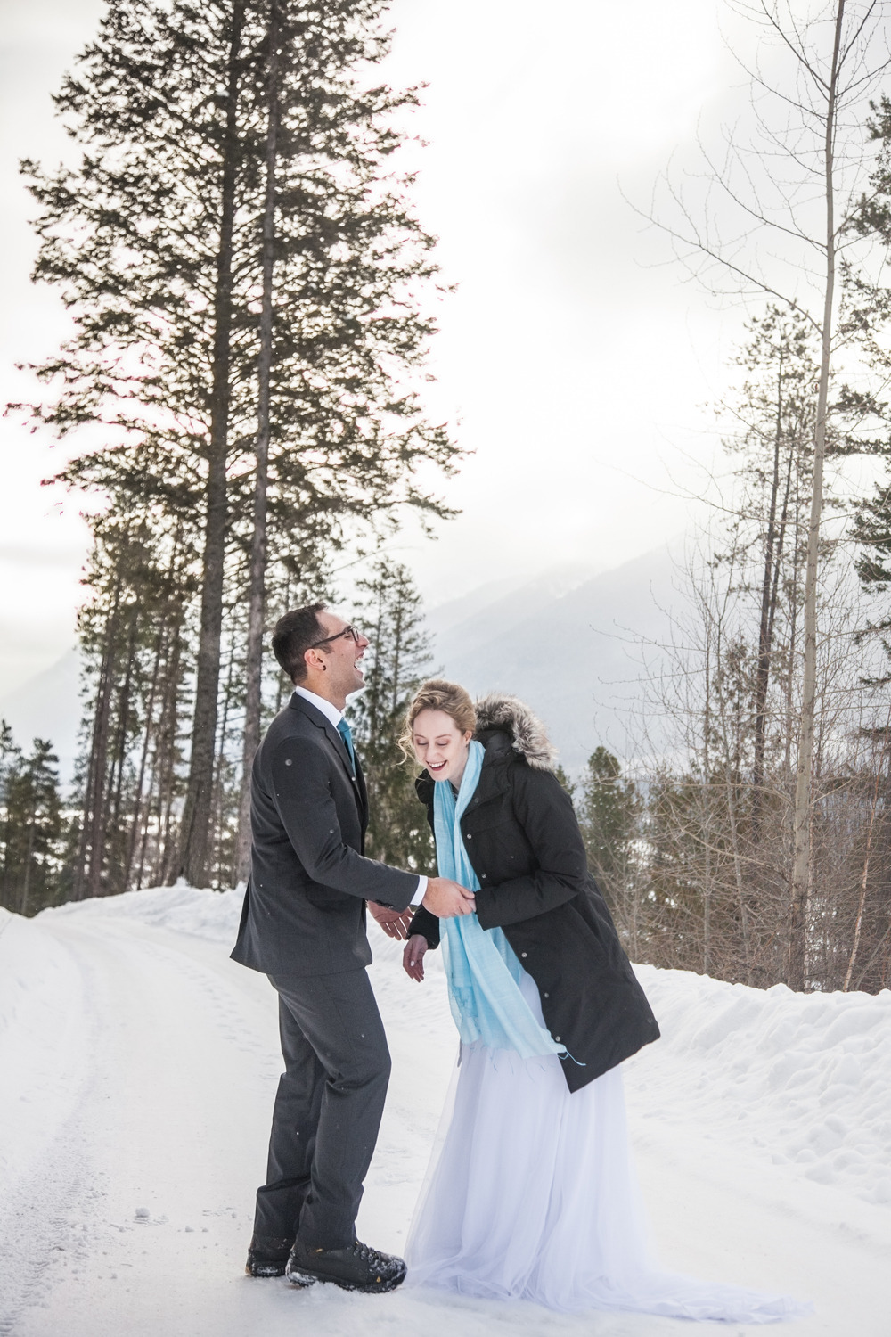 Mid-editing the wedding photos for these two goofballs, and had to share this one. I'm glad they could laugh in the freezing cold air in Fernie that afternoon - more photos to come. <3 you Jenn & Dale!