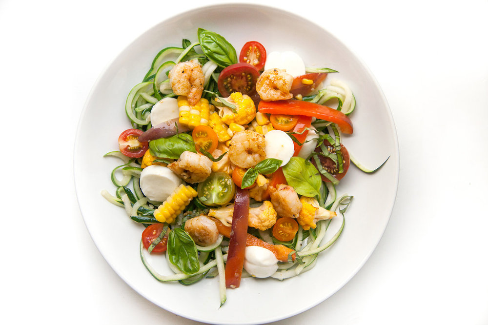 Zoodles with Summer Vegetables   Barre Fitness Blog - RECIPE HERE