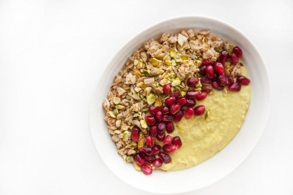 Vegan Lemon Curd Breakfast Bowl   Recipe on the Barre Fitness blog - click here.
