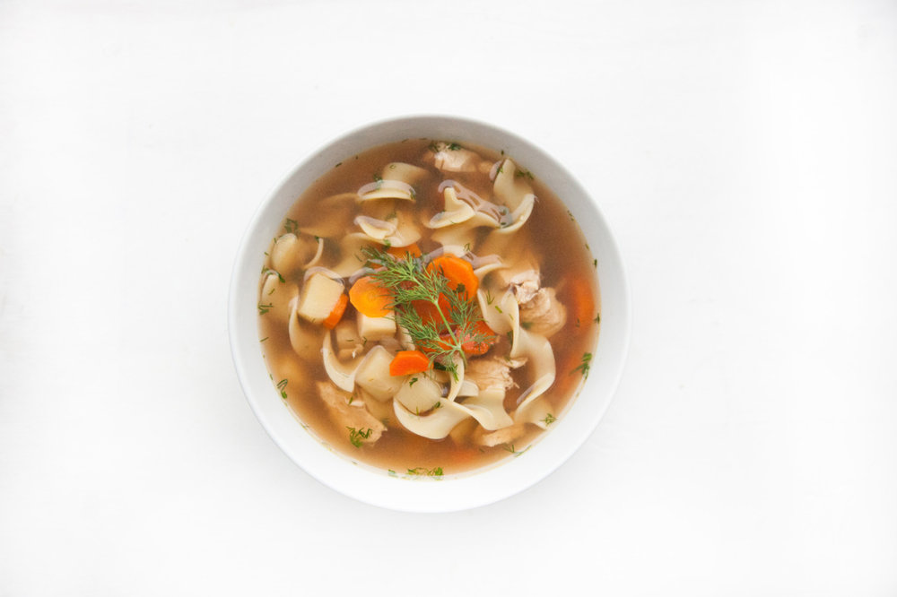 Parsnip & Carrot Chicken Noodle Soup  Recipe on the Barre Fitness blog - click here